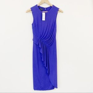 Bebe Jersey Draped Sleeveless Stretch Dress
